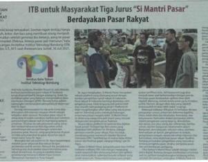 """ITB untuk Masyarakat Tiga Jurus """"Si Mantri Pasar"""" Berdayakan Pasar Rakyat"""