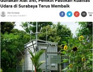 Gunakan Alat SNI, Pemkot Pastikan Kualitas Udara di Surabaya Terus Membaik