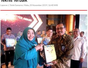 Ke-12 Kali BSN Berikan Penghargaan Komite Teknis Terbaik