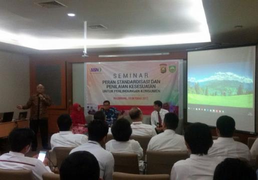 BSN Edukasi SNI Ke Anggota Kepolisian, Bea Cukai, BPOM dan Dinas Perdagangan Sumsel