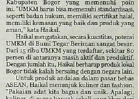 Kabupaten Bogor Andalkan UMKM
