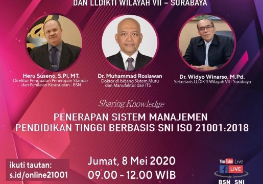 BSN Gandeng LLDIKTI VII Terapkan SNI ISO 21001:2018