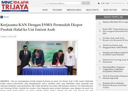 Kerjasama KAN dengan ESMA Permudah Ekspor Produk Halal ke Uni Emirat Arab