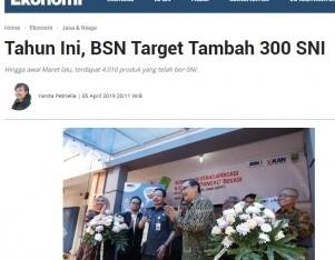 Tahun Ini, BSN Target Tambah 300 SNI
