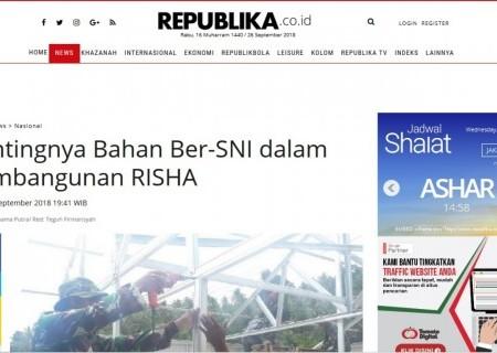 Pentingnya Bahan Ber-SNI dalam Pembangunan RISHA