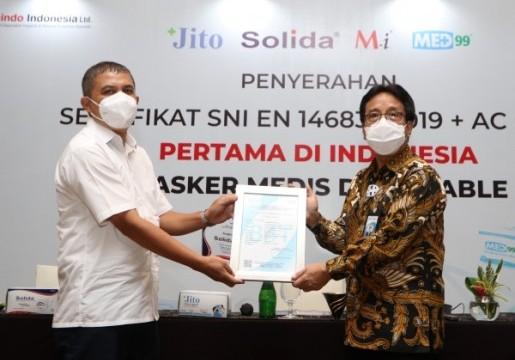 Industri Binaan BSN Raih SNI Masker Medis
