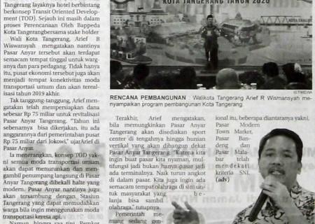Pemkot Tangerang Siap Revitalisasi Pasar Anyar