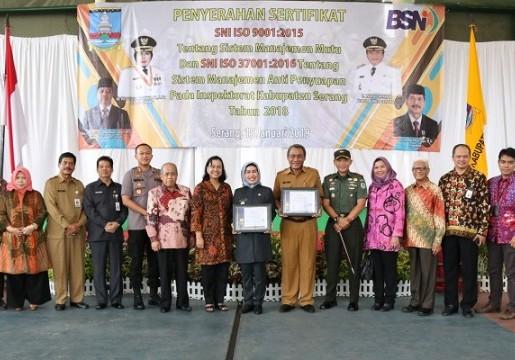 Inspektorat Kabupaten Serang Terapkan SNI ISO 9001:2015 dan SNI ISO 37001:2016