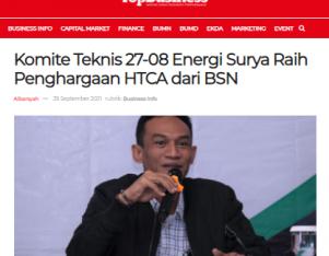 Komite Teknis 27-08 Energi Surya Raih Penghargaan HTCA dari BSN