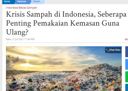 Krisis Sampah di Indonesia, Seberapa Penting Pemakaian Kemasan Guna Ulang?