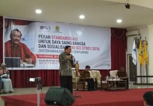 Kepala BSN Kuliah Umum di Universitas Sriwijaya