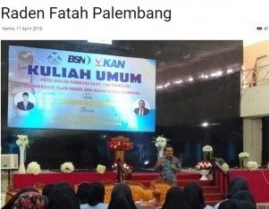 BSN Adakan Kuliah Umum di UIN Raden Fatah Palembang