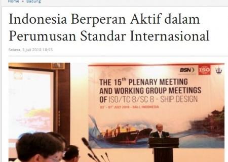 Indonesia Berperan Aktif dalam Perumusan Standar Internasional