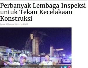Perbanyak Lembaga Inspeksi untuk Tekan Kecelakaan Konstruksi