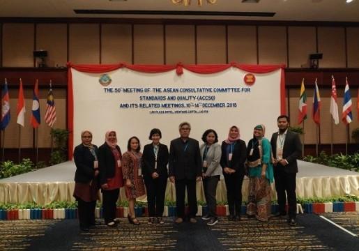 Pembentukan 2 Working Group baru di sidang  ASEAN Consultative Committee for Standards and Quality (ACCSQ)ke-50 Vientiane, Laos