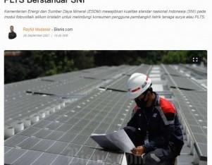 Jamin Kualitas, Kementerian ESDM Wajibkan Modul PLTS Berstandar SNI