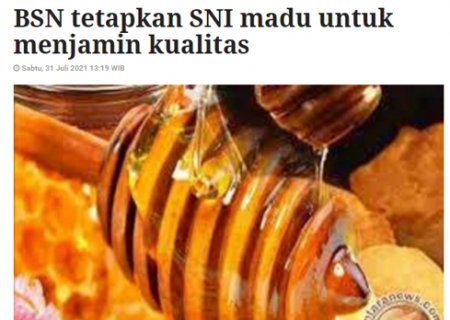BSN tetapkan SNI madu untuk menjamin kualitas
