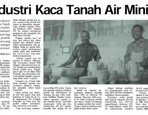 Industri Kaca Tanah Air Minim