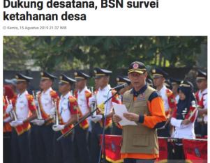 Dukung desatana, BSN survei ketahanan desa