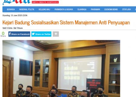 Kejari Badung Sosialisasikan Sistem Manajemen Anti Penyuapan
