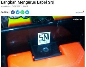 Langkah Mengurus Label SNI