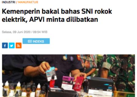 Kemenperin bakal bahas SNI rokok elektrik, APVI minta dilibatkan