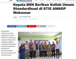 Kepala BSN Berikan Kuliah Umum Standardisasi di STIE AMKOP Makassar