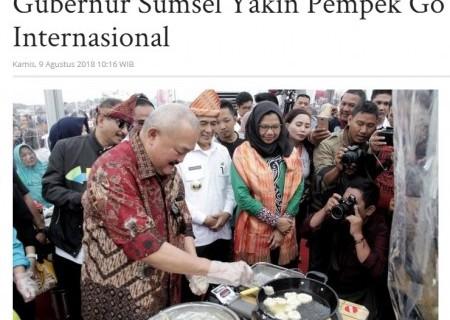 Gubernur Sumsel Yakin Pempek Go Internasional