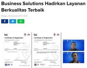 Kantongi Sertifikasi Dua ISO, XL Business Solutions Hadirkan Layanan Berkualitas Terbaik