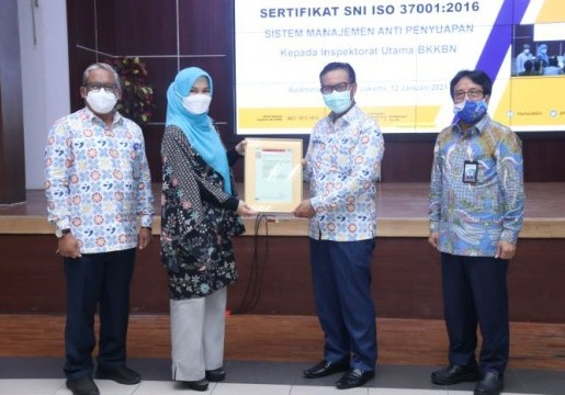 Inspektorat Utama BKKBN Raih SNI ISO 37001:2016