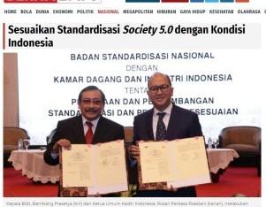 Sesuaikan Standardisasi Society 5.0 dengan Kondisi Indonesia
