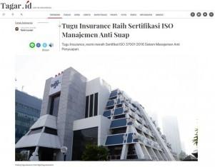 Tugu Insurance Raih Sertifikasi ISO Manajemen Anti Suap