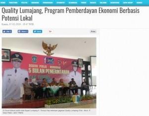 Quality Lumajang, Program Pemberdayan Ekonomi Berbasis Potensi Lokal