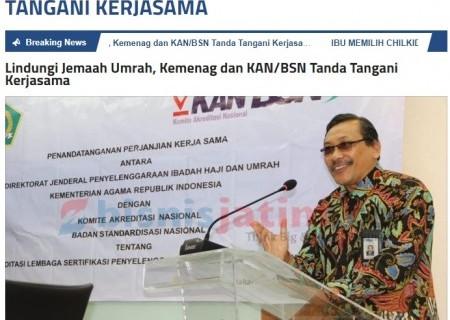 Lindungi Jemaah Umrah, Kemenag dan KAN/BSN Tanda Tangani Kerjasama