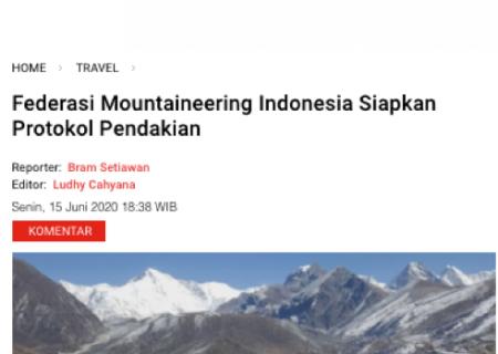 Federasi Mountaineering Indonesia Siapkan Protokol Pendakian