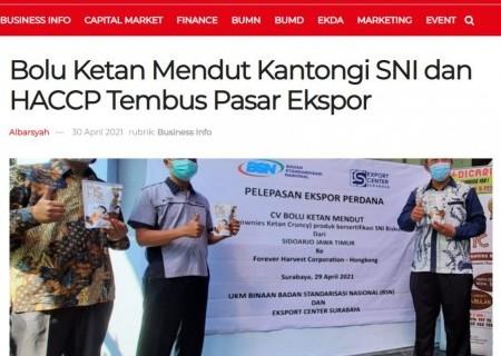 Bolu Ketan Mendut Kantongi SNI dan HACCP Tembus Pasar Ekspor
