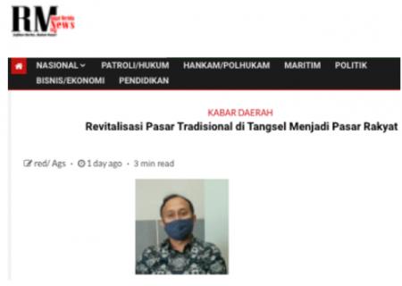 Revitalisasi Pasar Tradisional di Tangsel Menjadi Pasar Rakyat