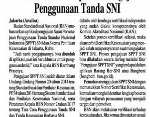 BSN Luncurkan Aplikasi Pengajuan