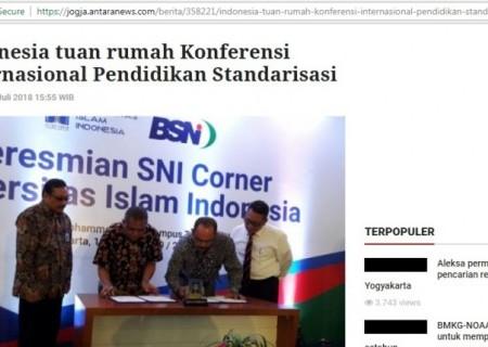Indonesia tuan rumah Konferensi Internasional Pendidikan Standarisasi