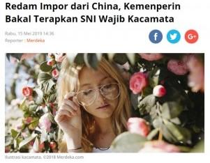 Redam Impor dari China, Kemenperin Bakal Terapkan SNI Wajib Kacamata