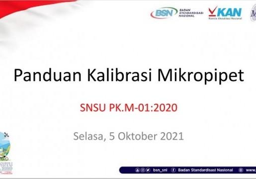 BSN Sosialisasikan Panduan Kalibrasi Mikropipet untuk Asesor