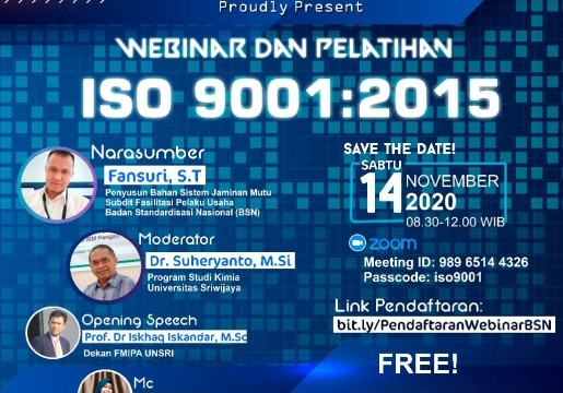 WEBINAR DAN PELATIHAN SNI ISO 9001:2015