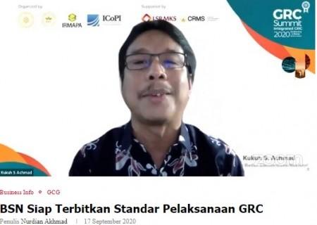BSN Siap Terbitkan Standar Pelaksanaan GRC