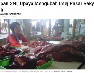 Penerapan SNI, Upaya Mengubah Imej Pasar Rakyat Agar Diminati