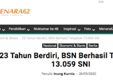 23 Tahun Berdiri, BSN Berhasil Tetapkan 13.059 SNI