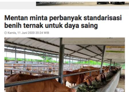 Mentan minta perbanyak standarisasi benih ternak untuk daya saing