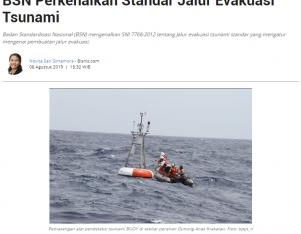 BSN Perkenalkan Standar Jalur Evakuasi Tsunami