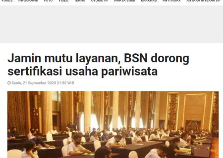 Jamin mutu layanan, BSN dorong sertifikasi usaha pariwisata