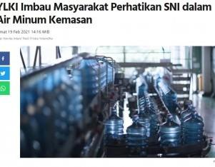 YLKI Imbau Masyarakat Perhatikan SNI dalam Air Minum Kemasan