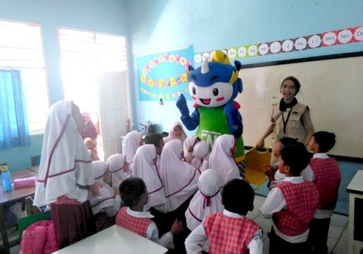 Si Rino Hadir di Banten, Kenalkan SNI Kepada Generasi Penerus Bangsa